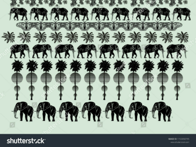 Elephant vector art