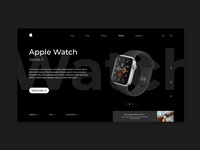 Apple Watch Landing Page concept design
