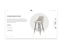 Cedro Bar stool - Luxury furniture product page design concept
