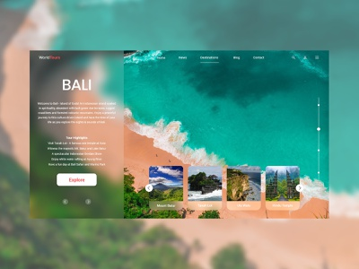 Tourism company website - Bali Tourism uidesignpatterns uidesigns website designer website designing ui designs indonesia bali beach tourism website concept ux ui design website design website web design web ui  ux uiux uidesign ui