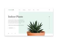 GreenerLife Indoor Plants UI design