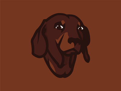 My buddy friend art hunting dog pet sausage animal mascot germany buddy character clean sausage dog dachshund dog vector illustraion