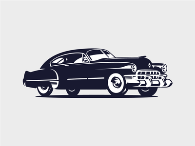 Cadillac Sedanette 1949 automotive vehicle speed garage branding design old retro classic vector vintage car cadillac illustration