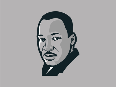Martin Luther King Jr. peace freedom leader activist baptist portrait vector free illustration king luther martin mlk