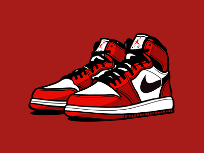 Nike Air Jordan 1 classic wear sports sneakers sport procreateapp procreate michael basketball shoes nike jordan air illustration