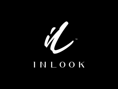 INLOOK lettering letters beauty fashion style symbiosis artist make-up photographer logo identity branding