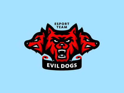 Evil Dogs wolf team gaming mascot identity dogs evil sport sale logotype logo illustration esport