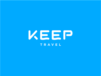 Keep Travel keep trip service online travel russia lettering branding identity logotype logo