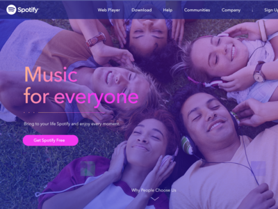 Spotify - Design Concept for Main Page