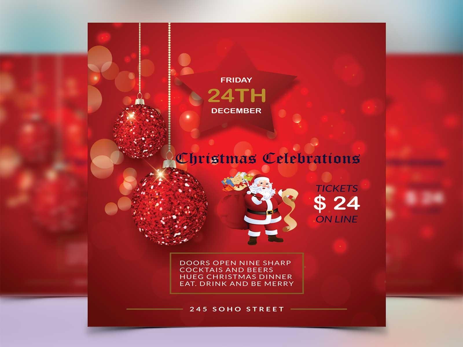 Christmas Flyer.Christmas Flyer By Gowrob Sarkar On Dribbble
