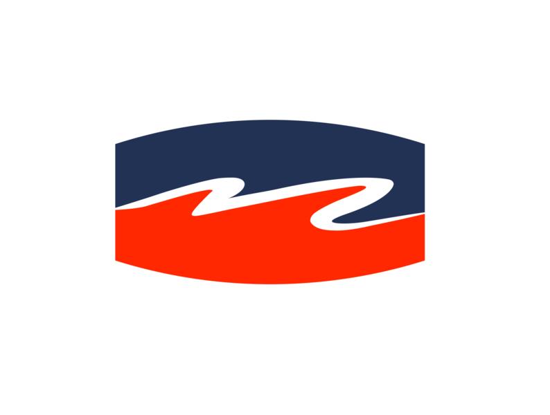 M - Winding Road branding illustration icon garage m logo road