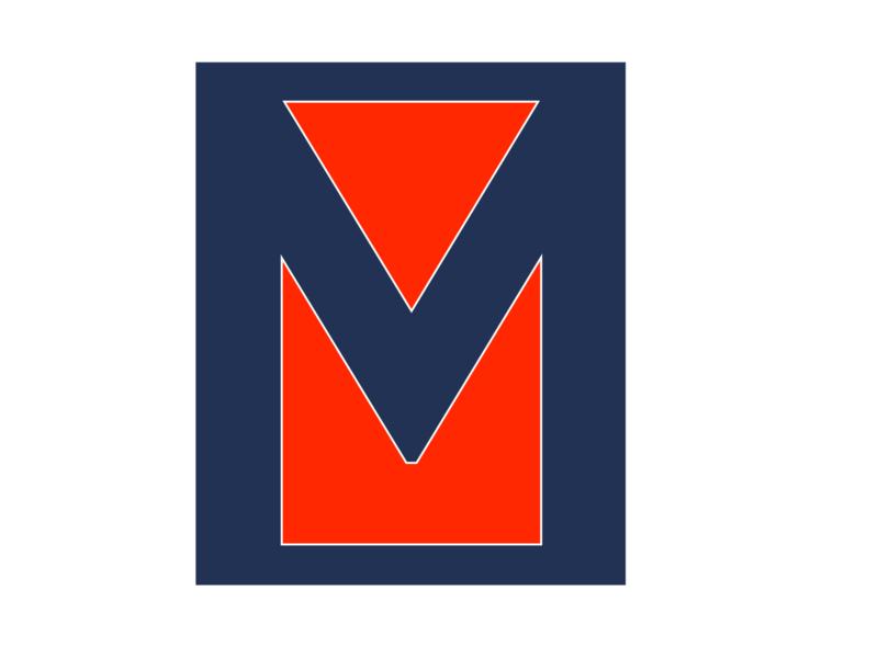 M Icon illustration box branding minimal ferrari red ferrari blue icon logo m
