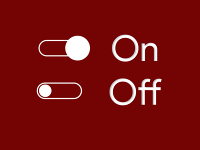 #DailyUI/Day 15 - on/off  switch