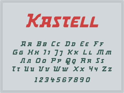 Kastell glyphs letters font display typography typeface type