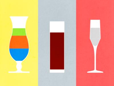 Color Contrast Cocktails