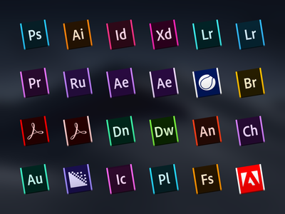 macOS Adobe CC Icons icns replacement icon iconset macos icons creative cloud adobe
