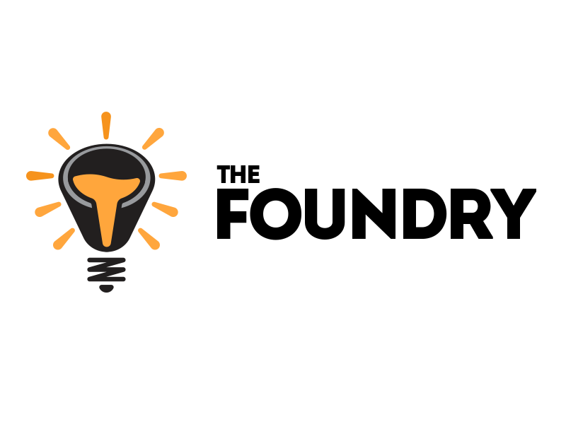The Foundry Logo liquid bulb lightbulb logo foundry