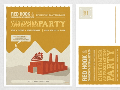 Red Hook Party Invite quoss invite craft beer party brewery texture red hook post card