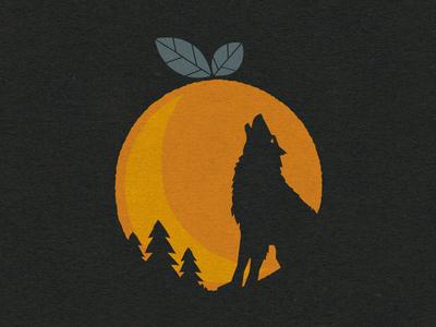 Orange is the New Moon quoss t-shirt graphic illustration wolf orange moon cotton bureau