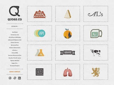 Quoss.Co quoss quoss.co portfolio website thumbnail navigation icon