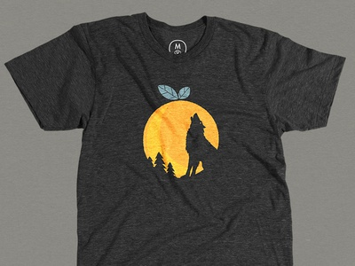 Cotton Bureau Wolf Tee quoss wolf moon illustration syracuse orange local t-shirt graphic cotton bureau