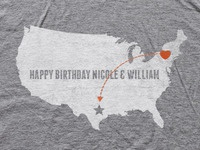 A birthday tee for someone I love in TX.