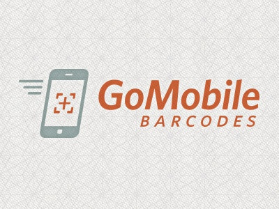 GoMobile Barcodes Logo quoss quoss.co identity logo mobile 2ndnature texture id