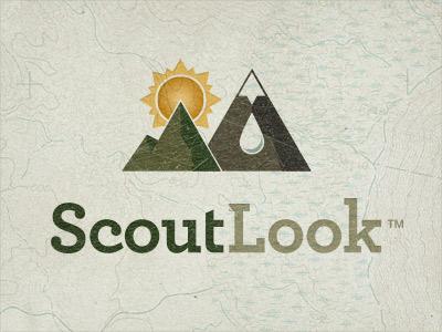 ScoutLook Logo Topo quoss quoss.co id logo typography topography texture