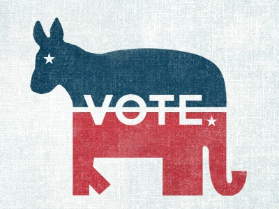 Party Animals quoss vote campaign democrat republican donkey texture animal elephant party election