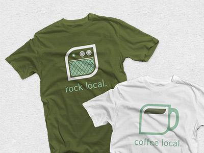 New SyracuseFirst Tees quoss t-shirt syracuse local non-profit rock amplifier coffee mug illustration green