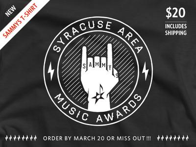 Six Finger Final quoss t-shirt syracuse local illustration losttype tattoo rock haymaker