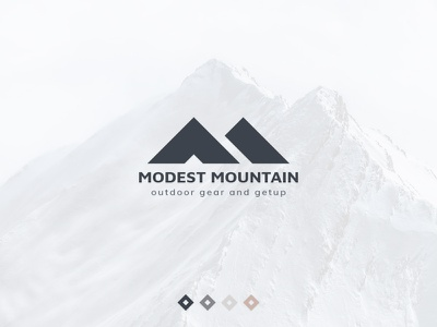 Modest Mountain Logo mountain modest slogan brand photoshop minimal geometric logo