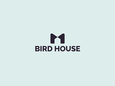 Logo design – Bird House house logo birdhouse bird house creative geometric logo minimalist logo minimalist logo