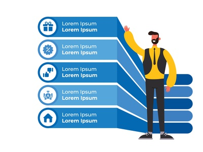 Modern Infographic for Website or Presentation use web elements icons charts blue creative infographic design modern infographic modern illustration modern human illustartion illustration uidesign ui infographic infographics