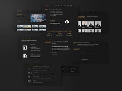 Dark Neumorphic Website Project - Frazex.com modern golden dark ui dark mode dark neumorphic design neumorphism neumorphic web design webdesign website ui design ux uiux ui