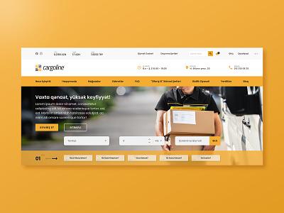 Cargoline - Desktop Landing Page calculator ui slider delivery ecommerce ux design modern web design landing page ui