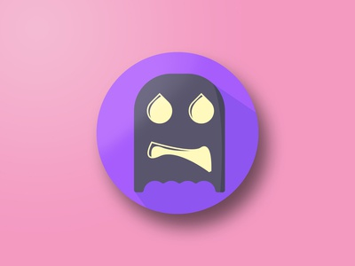Halloween Scared Ghost Icon