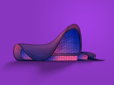 Haydar Aliyev Center vector illustration