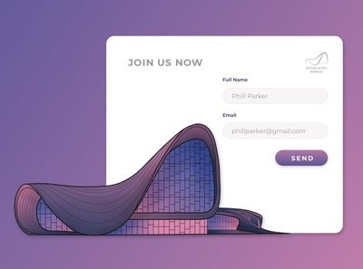 Website Registration page \ Haydar Aliyev Center