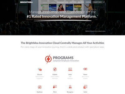 Brightidea Product Overview and Individual Product Web Pages website illustration branding web design
