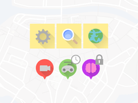 Icons for serious gaming app