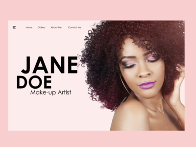 Sample Landing Page for a Makeup artist