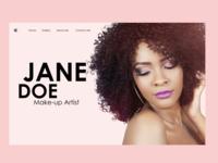 Sample Landing Page for a Makeup artist