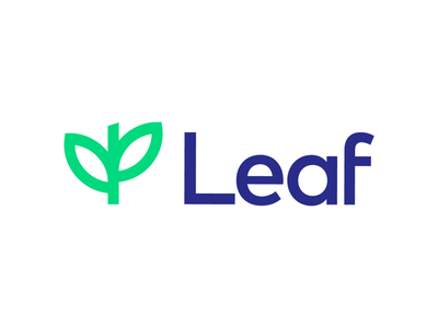 Leaf Logo Proposal for IT Company (Unused for Sale) geometry geomtric grid lines square math sans serif type typography technology minimal simple clean app software it tech green fresh nature bright growth elevate progress level leaves rise up success tree natural grow leaf branding brand identity logo mark symbol icon