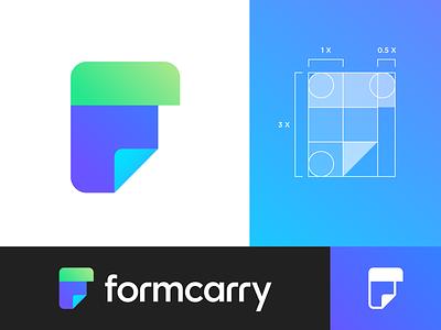 Formcarry Logo Exploration 01 single color gradient modern time save savior form code coding developer wordmark letter type text custom typography branding brand identity logo mark symbol icon