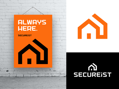 SecureIst Final Logo Design for Security Device poster wall design graphic software hardware enter open security system barrier device house houses home warmth type typography text custom branding brand identity logo mark symbol icon