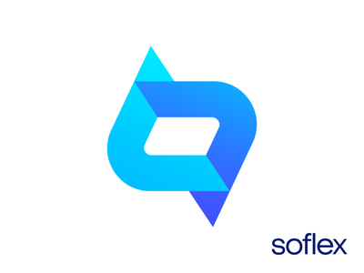 Soflex Logo Design for Software Company tech technology process letter s endless clean host hosting soft code coding software it business startup marketing app build launch product developer branding brand identity logo mark symbol icon