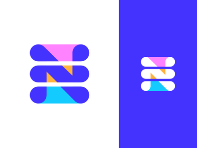 Letter N / List Logo Exploration 01 for Nomeno.io user info cloud register catalogue name names title software it tech technology variety range series type text colors inverted nomenclature structure table grid info letter n list lists branding brand identity logo mark symbol icon