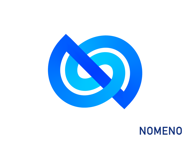 NO Monogram Logo Exploration (Unused for Sale) for sale unused buy application cloud user programming api middleware agile it software app tech list names tables neon depth volume 3d blue gradient path together spiral circle ellipse round letter n o connection branding brand identity logo mark symbol icon