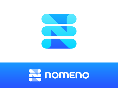 Nomeno Approved Logo Design variety range series user info cloud type text colors inverted structure table grid info software it tech technology register catalogue name names title nomenclature letter n list lists type typography text custom branding brand identity logo mark symbol icon